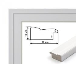 Белая рельефная 3 см